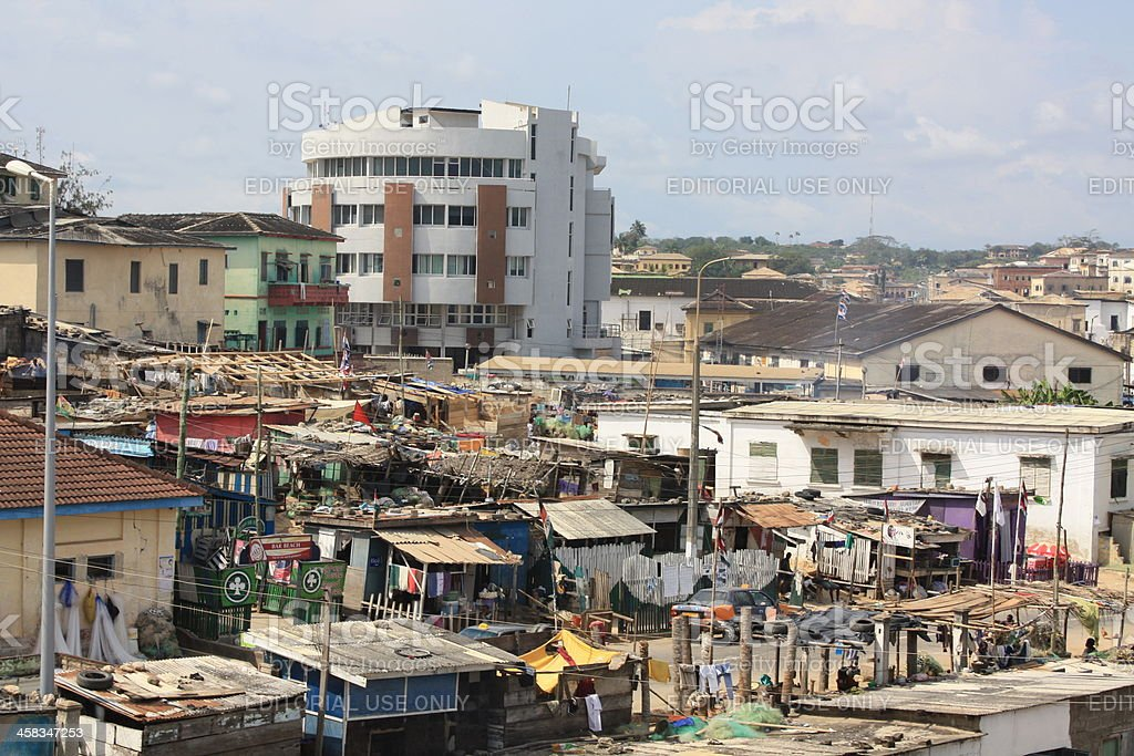 View of Cape Coast, Ghana, West Africa royalty-free stock photo