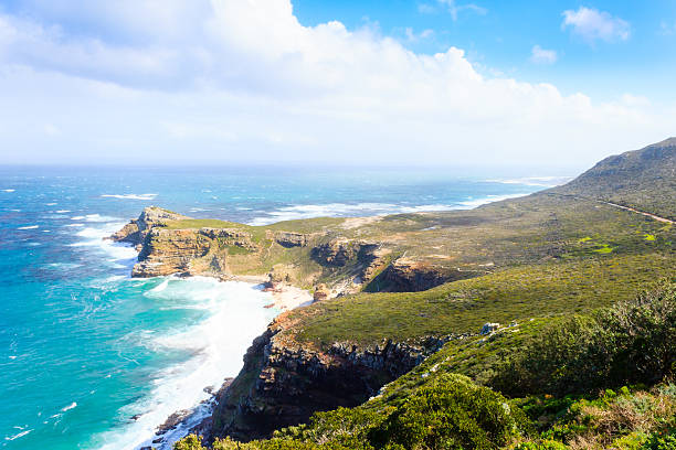 view of cape of good hope south africa - cape peninsula stock pictures, royalty-free photos & images