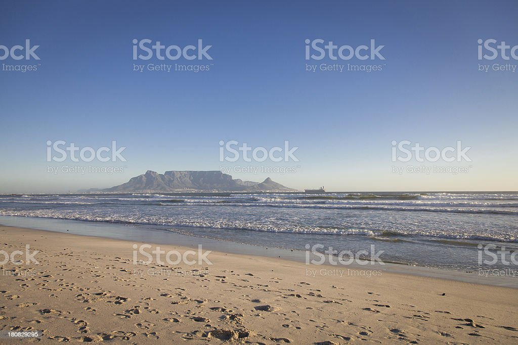 View of Cape Town from Bloubergstrand, South Africa royalty-free stock photo