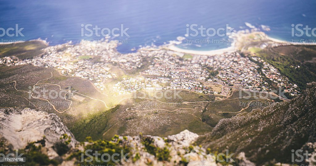View of Cape Town from Table mountain royalty-free stock photo