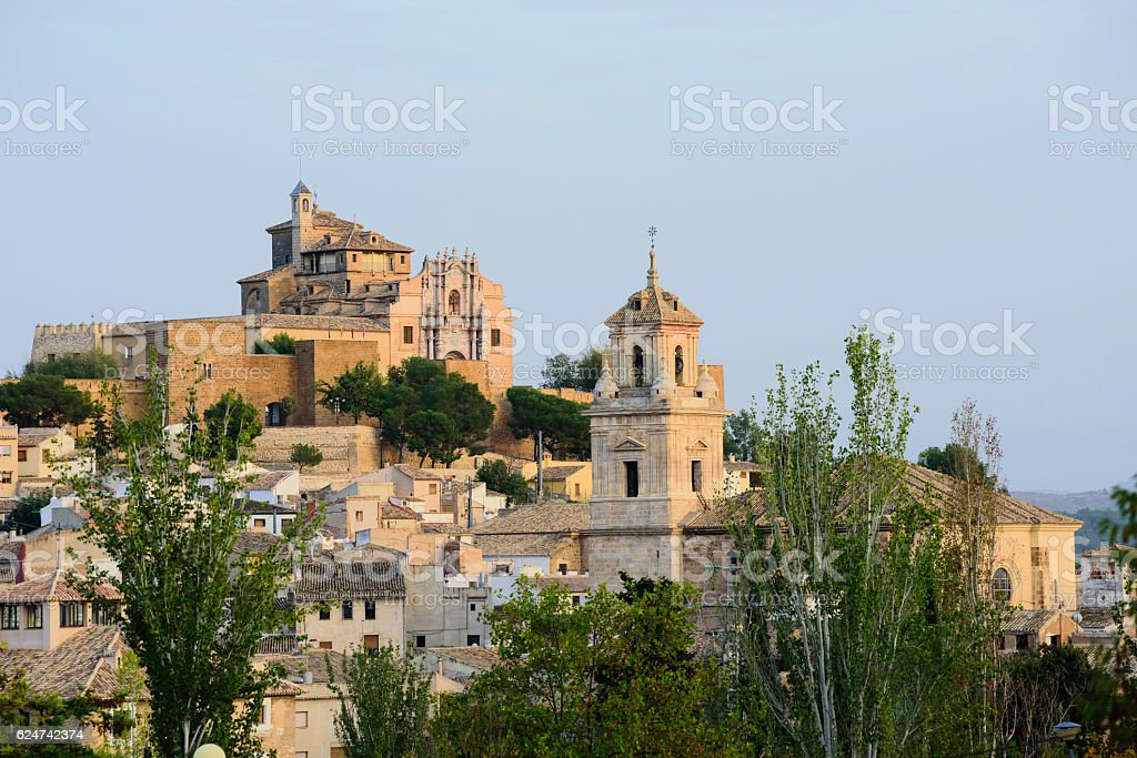 View of Caravaca de la Cruz town located in Murcia stock photo