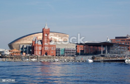 View Of Cardiff Bay Stock Photo & More Pictures of Bay of Water