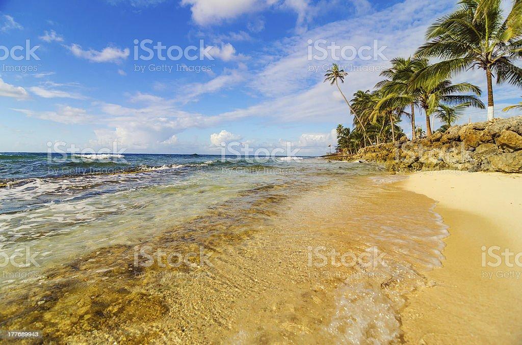 View of Caribbean Coastline stock photo