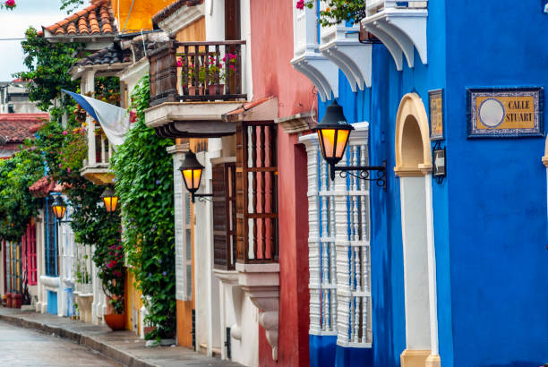 View of Cartagena de Indias, Colombia View of Cartagena de Indias, Colombia unesco stock pictures, royalty-free photos & images