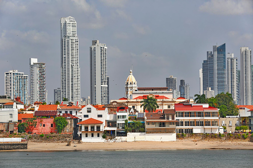 View of Casco Viejo and Panama City.
