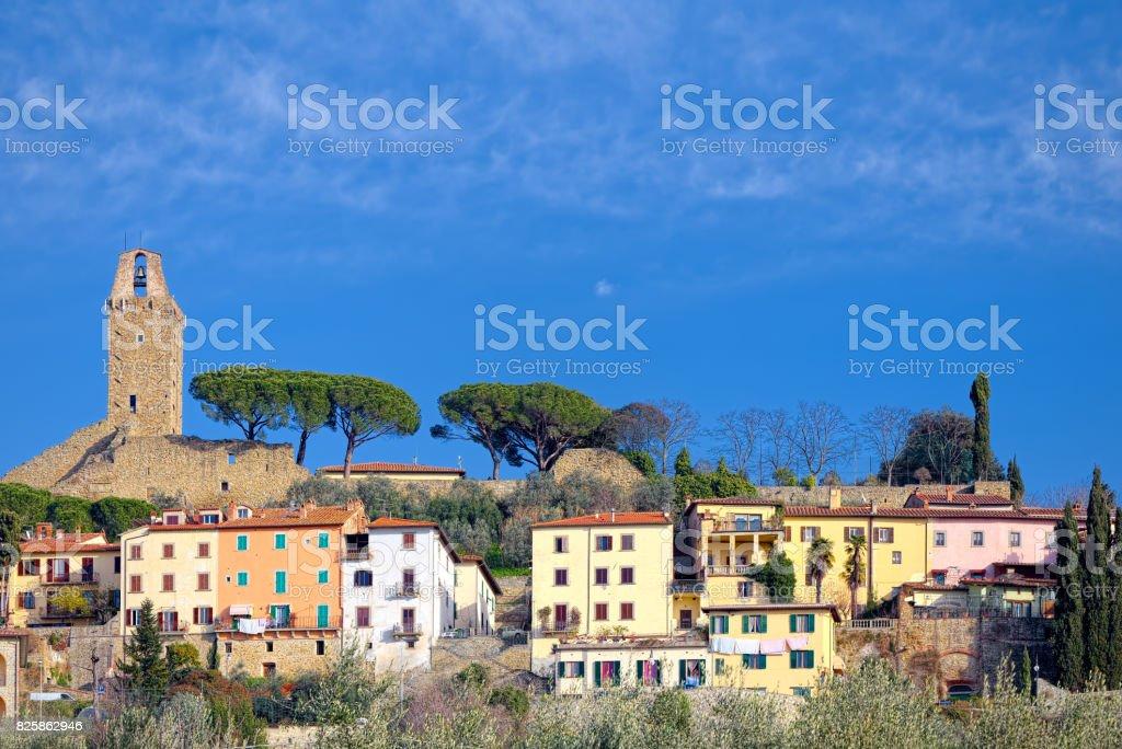 View of Castiglion Fiorentino (Tuscany, Arezzo) - foto stock