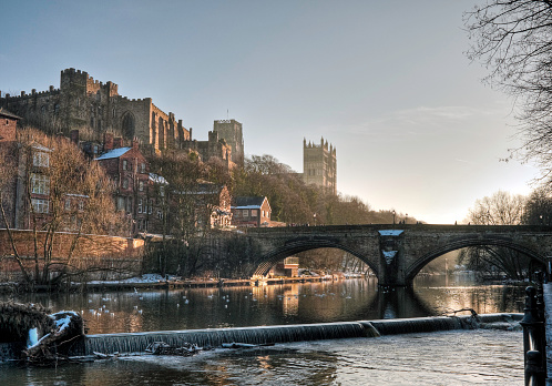 HDR view of Castle and Cathedral, Durham, UK