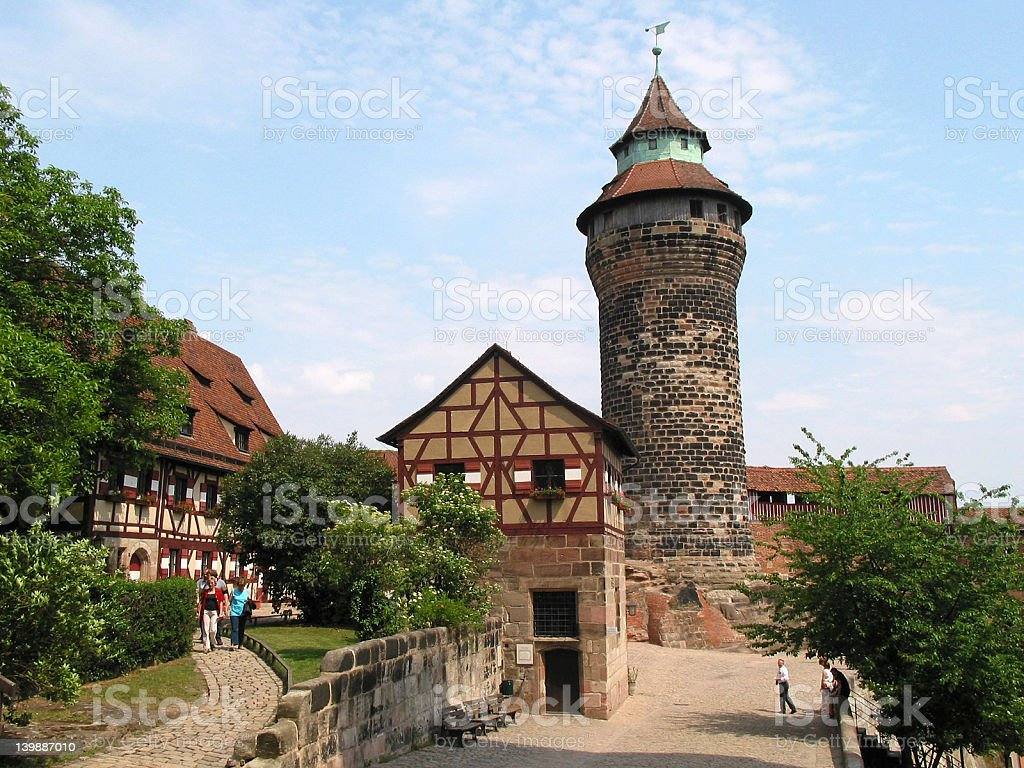View of castle in Nuremberg, Germany stock photo