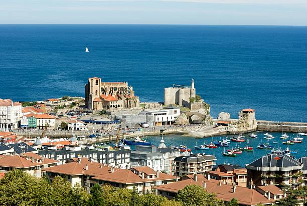 View of Castro Urdiales (Cantabria - Spain)  santander spain stock pictures, royalty-free photos & images