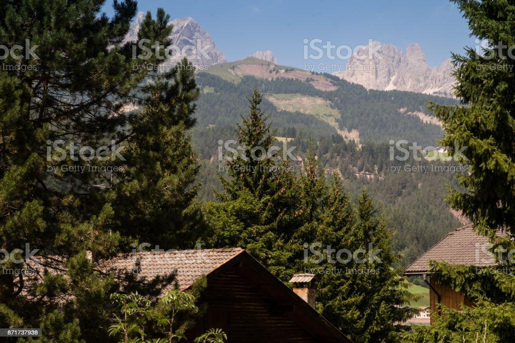View of Catinaccio range stock photo