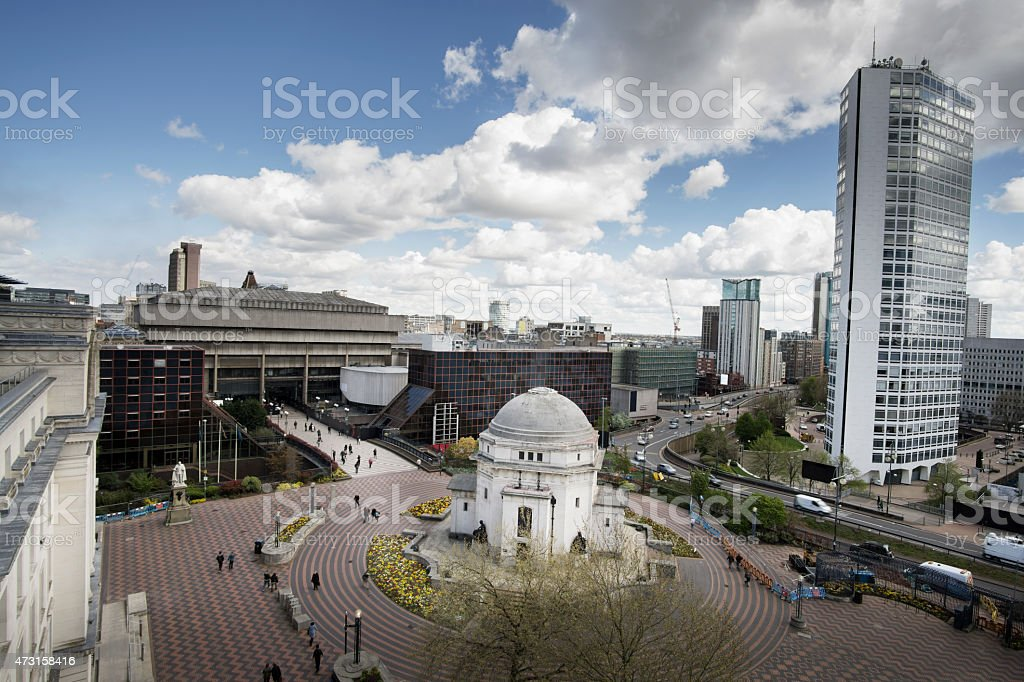 BIRMINGHAM, UK - View of Centenary Square stock photo