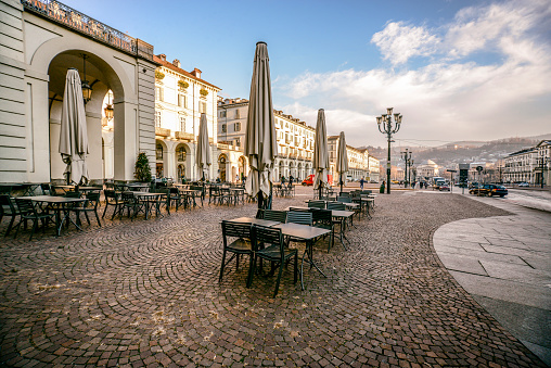 View Of Center Square In Turin, Italy