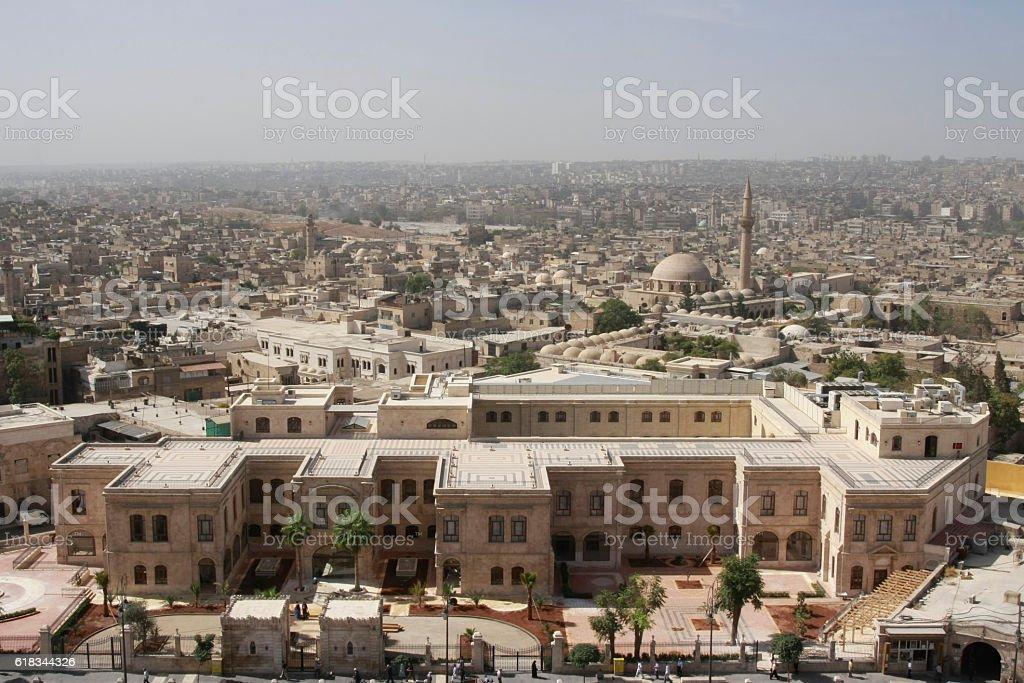 View of Central Aleppo, Syria stock photo
