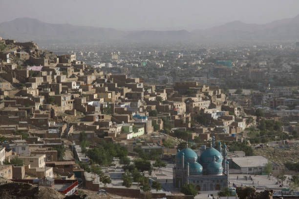 View of central Kabul View of the Afghan capital city Afghanistan stock pictures, royalty-free photos & images