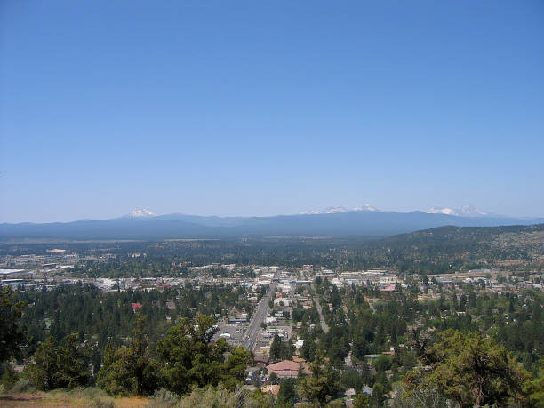 View of Central Oregon stock photo