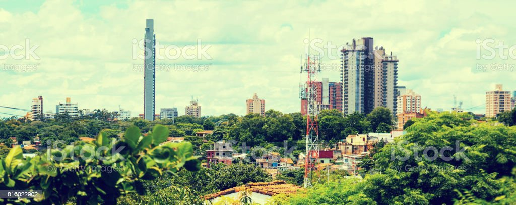 View of central part of Asuncion, Paraguay stock photo