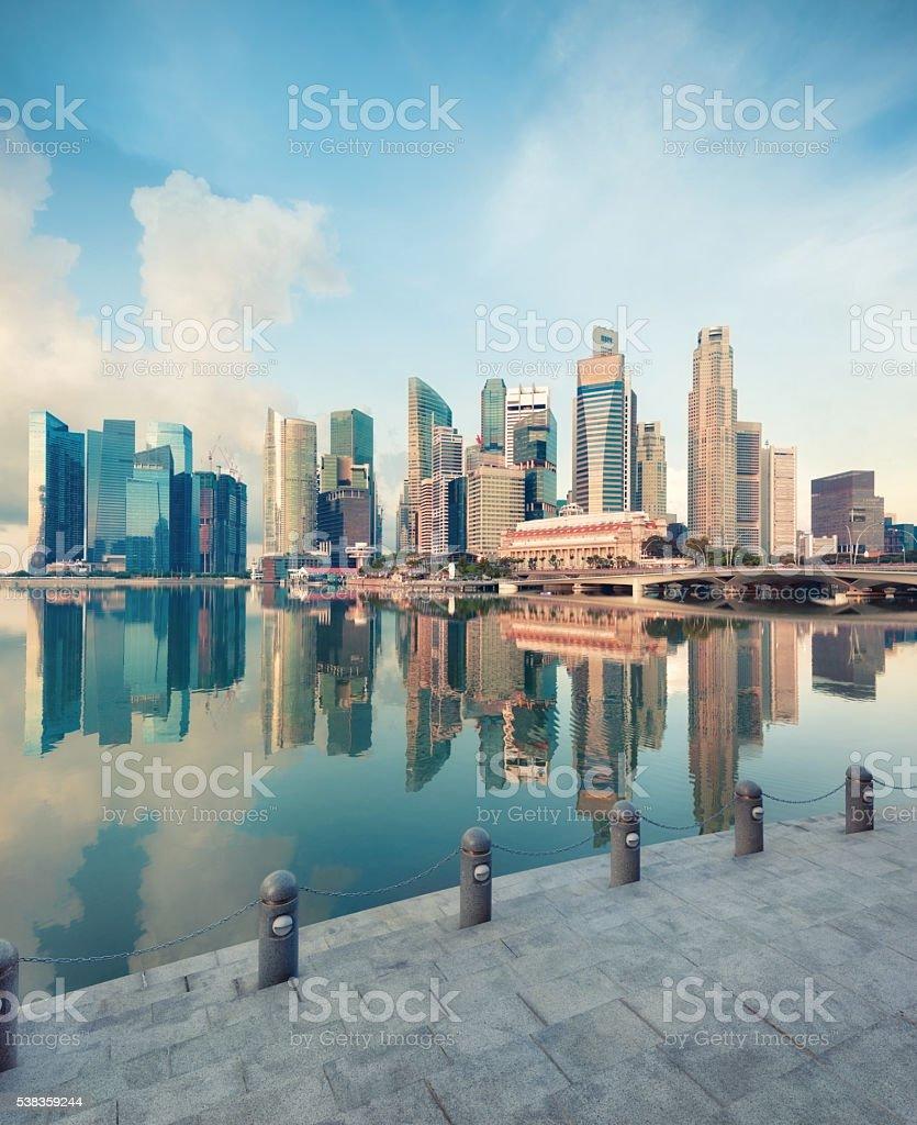 Blick auf Zentrum von Singapur – Foto