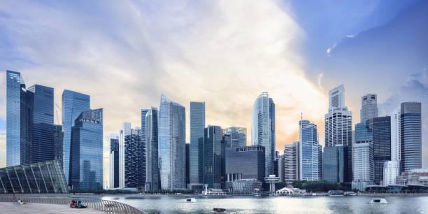 Ansicht des zentralen Skyline von Singapur – Foto