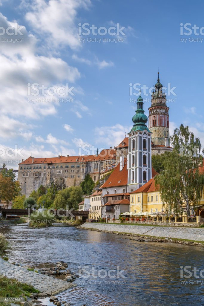 View of Cesky Krumlov, Czech republic stock photo