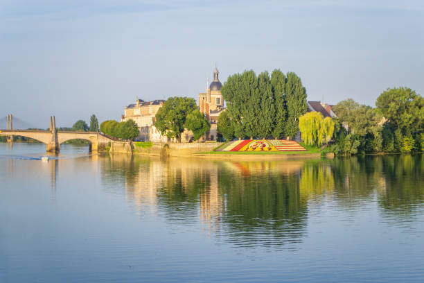 View of Chalon-sur-Saone, France stock photo