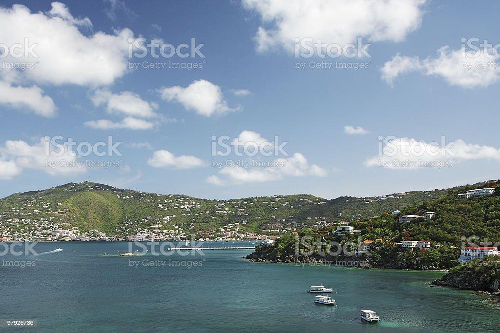 View of Charlotte Amalie, St. Thomas royalty-free stock photo