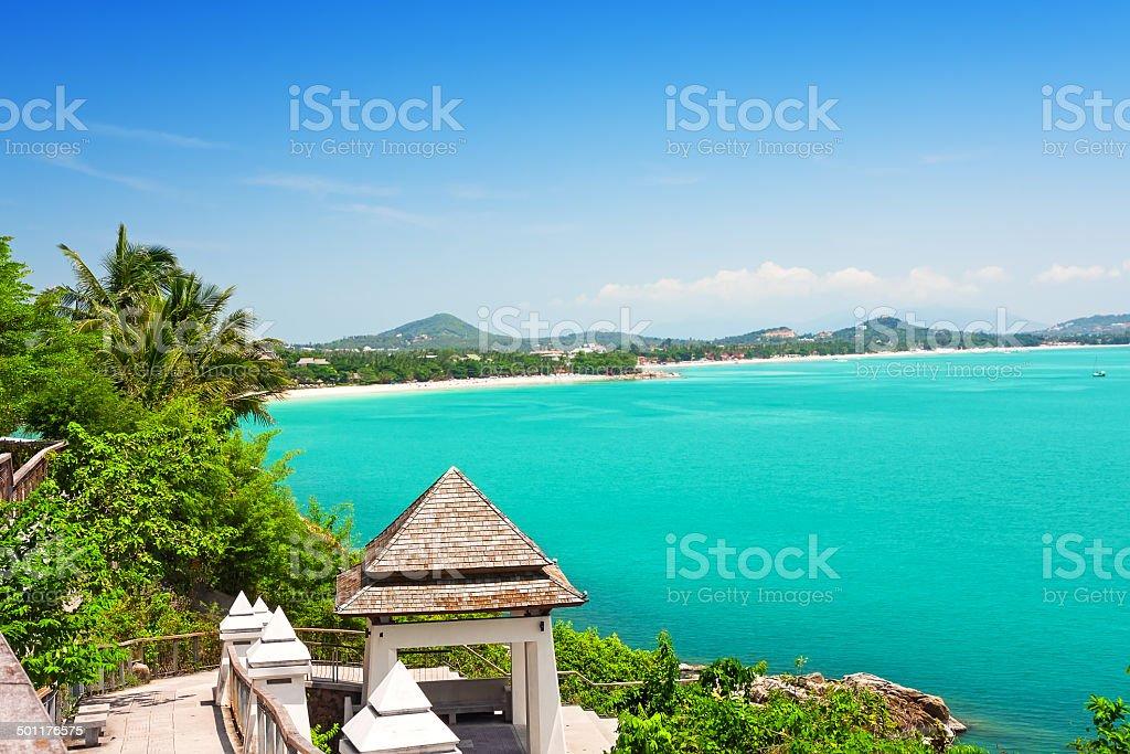 View of Chaweng beach, Koh Samui, Thailand stock photo