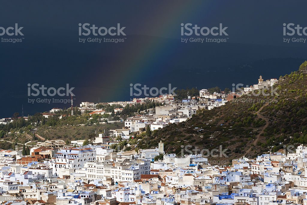 View of Chefchaouen royalty-free stock photo