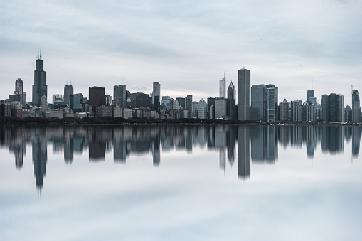 View of Chicago Skyline at Daytime