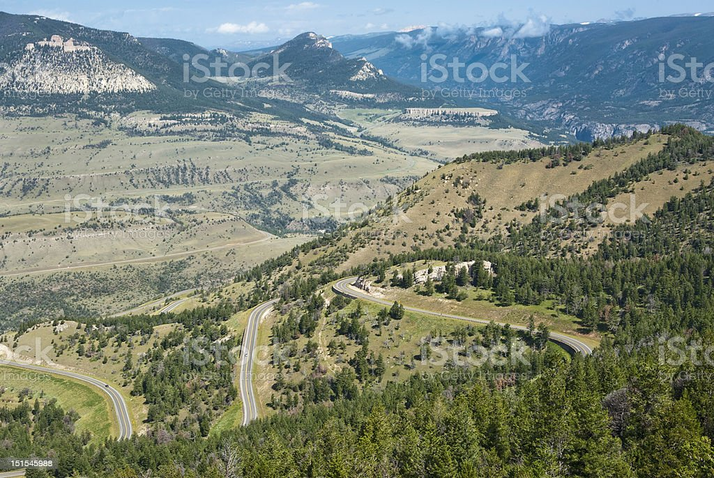 View of Chief Joseph Scenic Byway stock photo