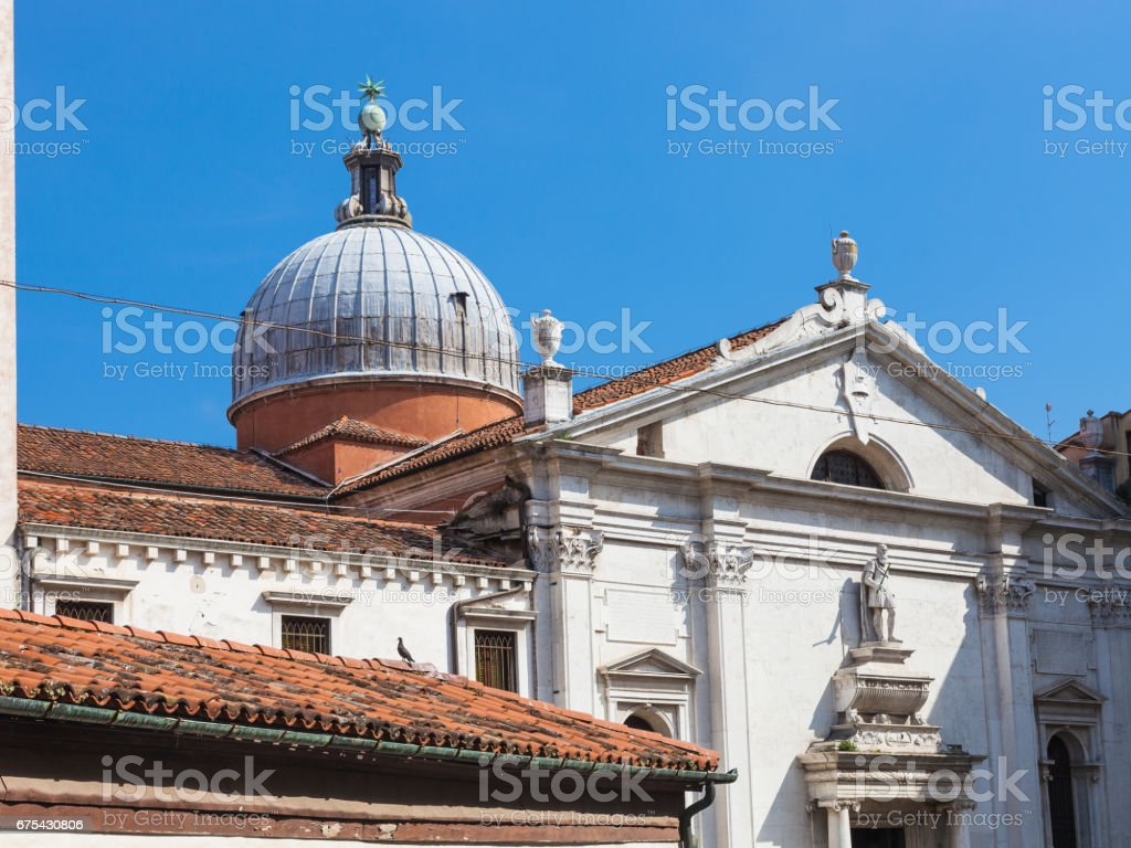 view of chiesa Santa Maria Formosa from canal royalty-free stock photo