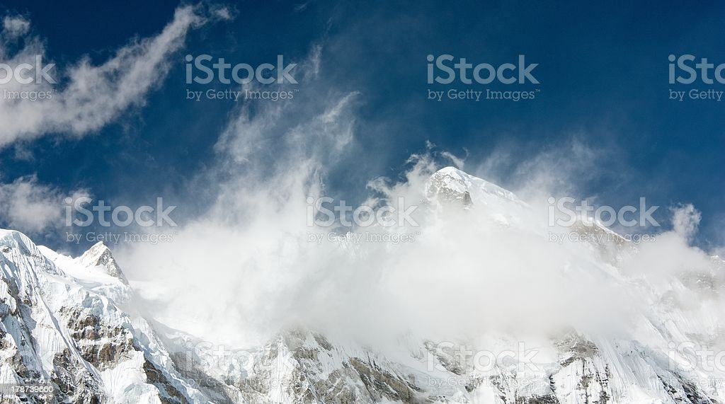 view of cho oyu stock photo