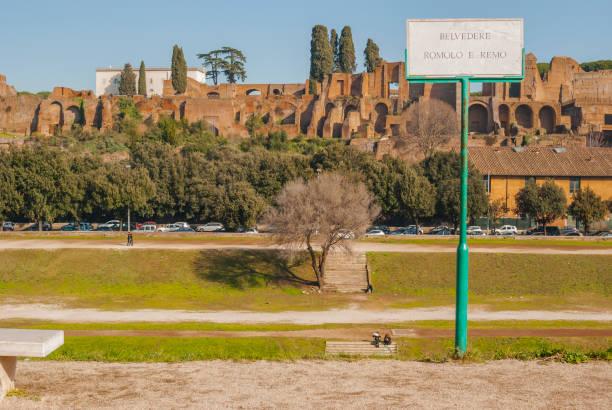 View of Circus Maximus from Belvedere Romolo e Remo - foto stock