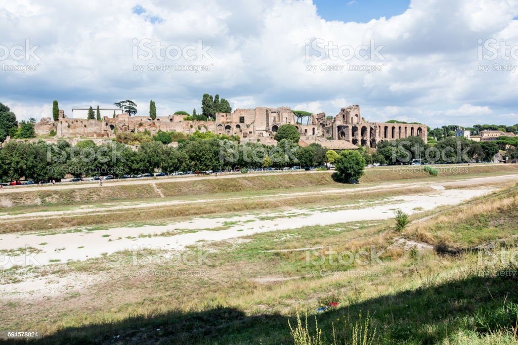 View of Circus Maximus from Belvedere Romolo e Remo stock photo