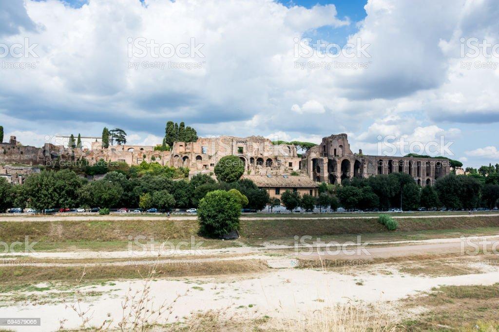 View of Circus Maximus from Belvedere Romolo e Remo stock photo
