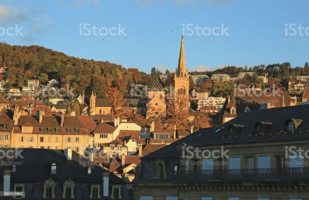 View of city Neuchatel, Switzerland, Europe stock photo
