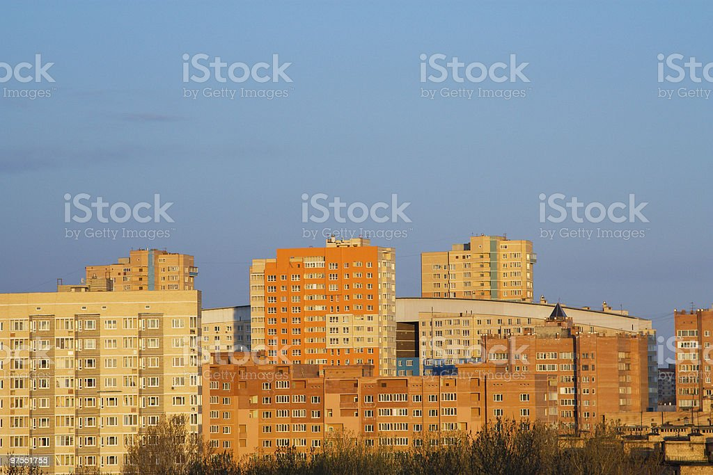 View of City, Russia royalty-free stock photo
