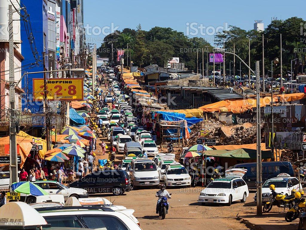 View of Ciudad Del Este, Paraguay stock photo