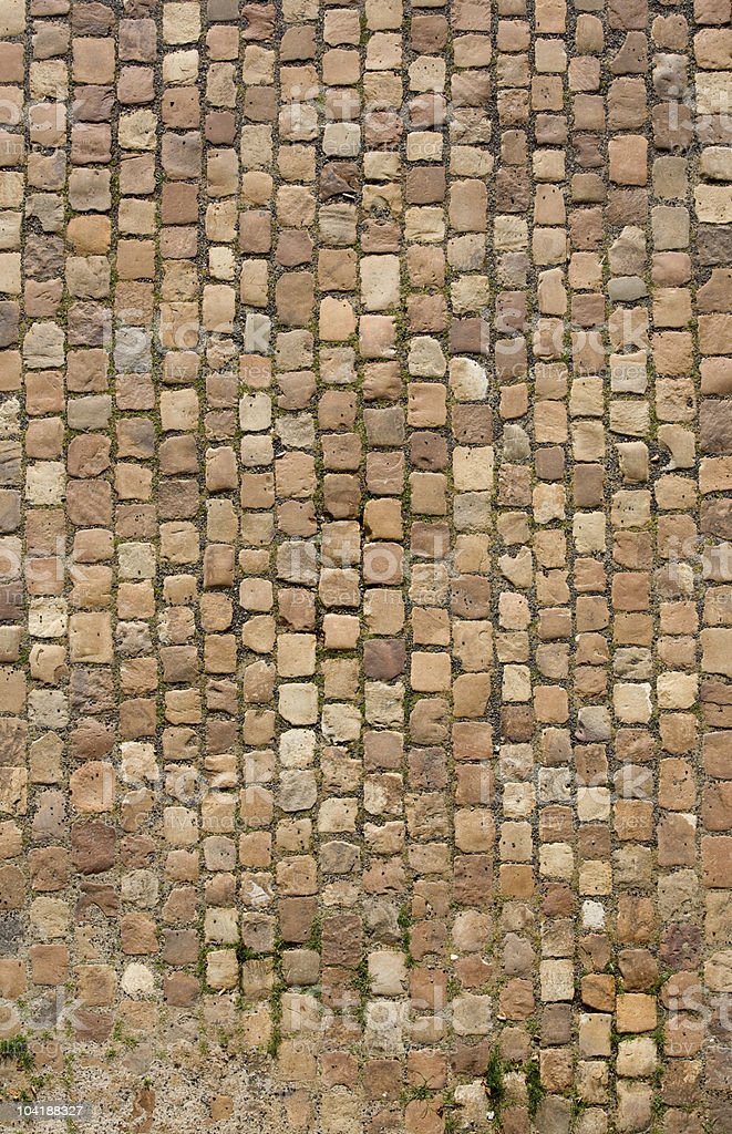 View of cobblestone road in Prague  royalty-free stock photo