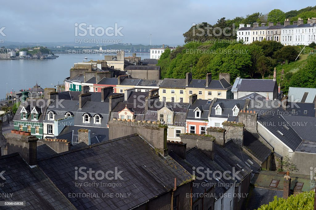 view of cobh town county cork stock photo