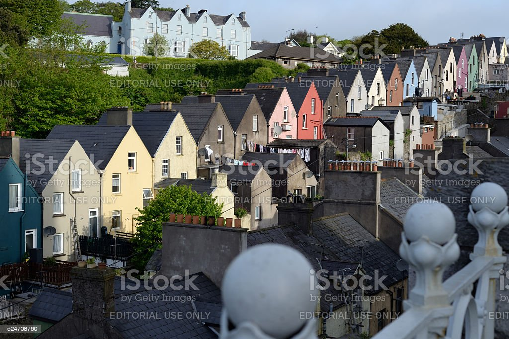 view of cobh town house stock photo