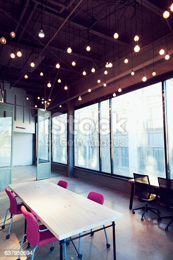 istock View of colorful large open working studio 637950694