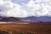 View of picturesque mountain road views in Atacama region, Chile