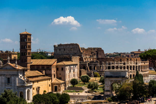 View of Colosseum stock photo