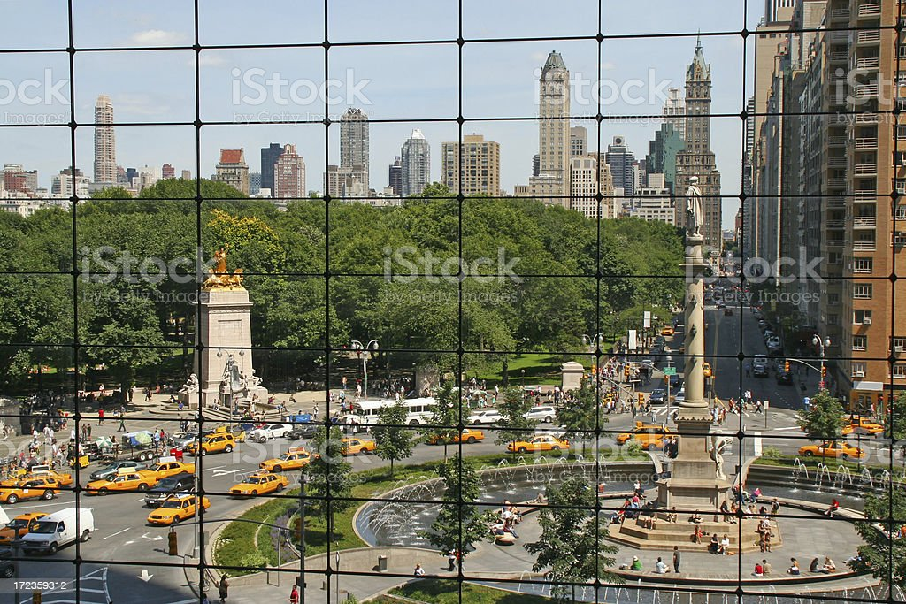 A view of Columbus Circle in New York  stock photo