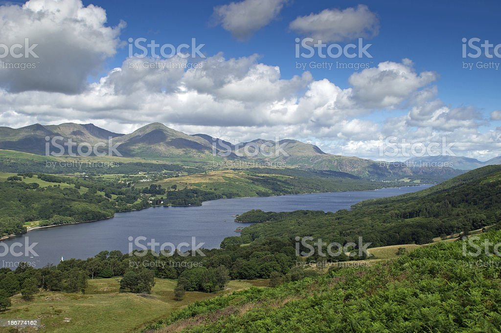 View of Coniston water royalty-free stock photo