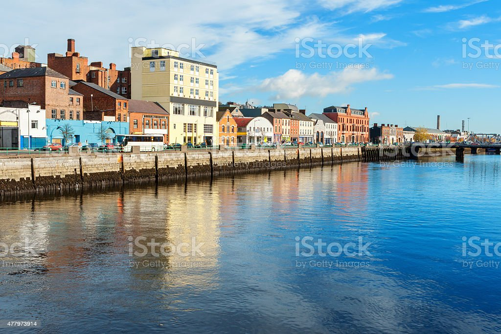 View of Cork city. Ireland stock photo