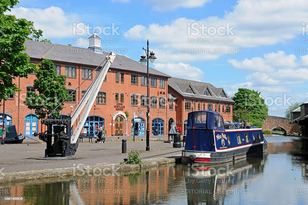 View of Coventry canal basin. stock photo