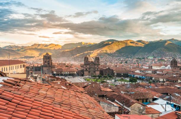 View Of Cusco In Peru stock photo