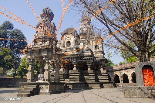 istock View of Dakshin Kashi Mandir. Mahuli Sangam. Satara. Maharashtra. India 1007837030