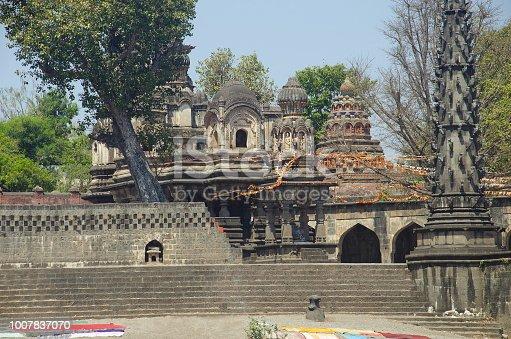 istock View of Dakshin Kashi Mandir. Mahuli Sangam. Satara. Maharashtra. India 1007837070